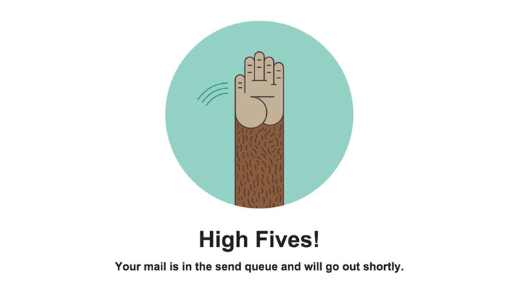 Mail chimp high-five