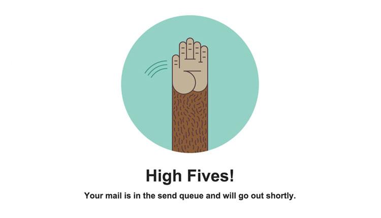 Mail chimp high-five