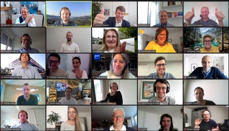 Forum Day 2021 Université de St. Gallen, photo des participants via Zoom