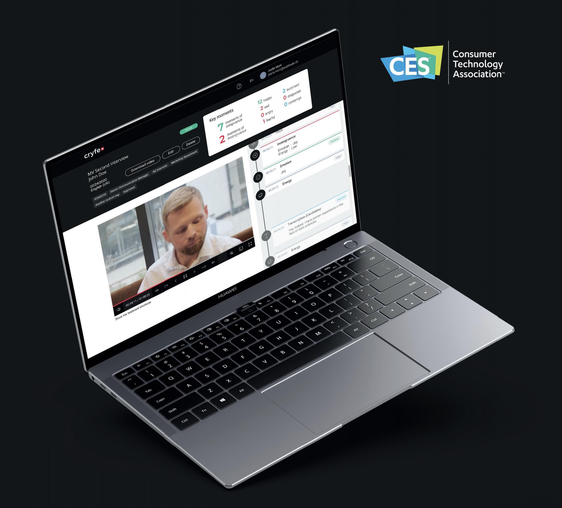 image du logiciel cryfe et le logo ces las vegas 2021
