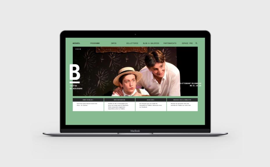 Site internet du Théâtre de beausobre